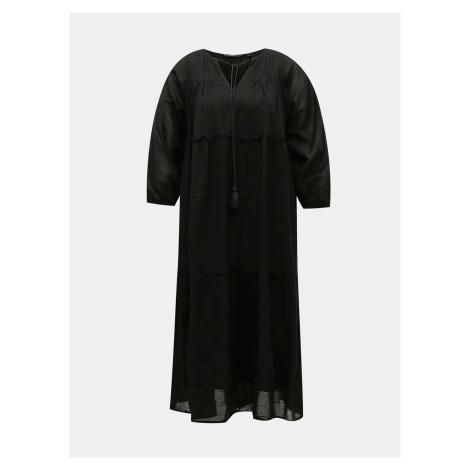 Czarna luźna sukienka maxi VERO MODA Ollie