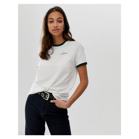 Vero Moda love embroidered t-shirt