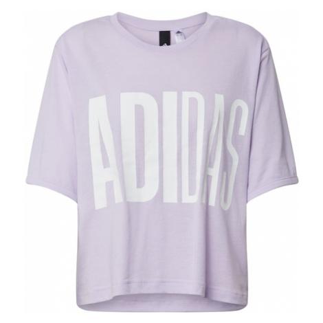 ADIDAS PERFORMANCE Koszulka funkcyjna liliowy / biały