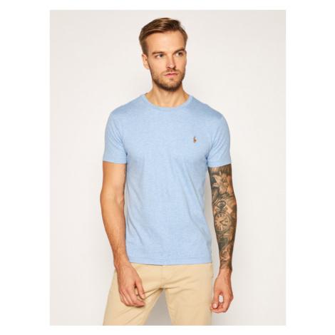 Polo Ralph Lauren T-Shirt Ssl 710740727017 Niebieski Slim Fit