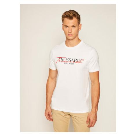 Trussardi Jeans T-Shirt 52T00382 Biały Regular Fit