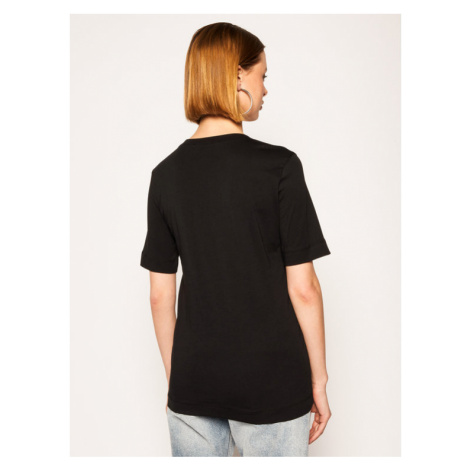 LOVE MOSCHINO T-Shirt W4F152DM 3876 Czarny Regular Fit