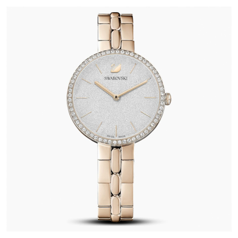 Cosmopolitan Watch, Metal bracelet, Gold tone, Champagne-gold tone PVD Swarovski