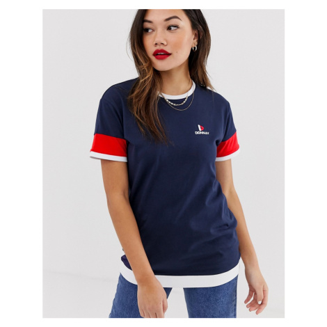 Donnay long line top in navy