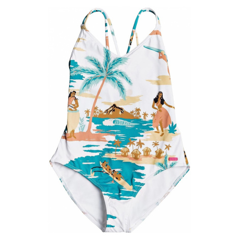 strój kąpielowy Roxy Love Waimea One Piece - WBB5/Bright White Honolulu Big S