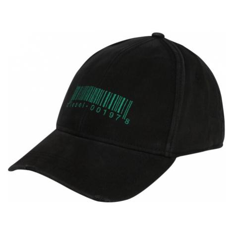 DIESEL Czapka z daszkiem czarny / zielony