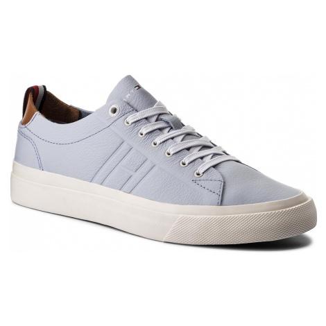 Tenisówki TOMMY HILFIGER - Unlined Low Cut Pastel Leather FM0FM01802 Halogen Blue 425