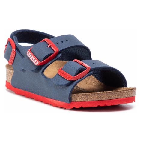 Sandały BIRKENSTOCK - Milano Kinder 1017368 Desert Soil Blue Red
