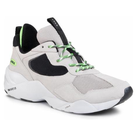 Sneakersy ARKK COPENHAGEN - Kanetyk Suede 2.0 W13 CR3806-0005-M Soft Grey/Vivid Green