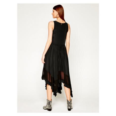 TwinSet Sukienka letnia 201TT2344 Czarny Regular Fit