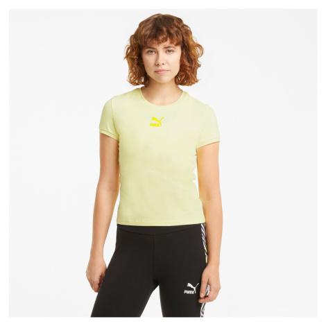 PUMA Damski T-shirt Classics O Dopasowanym Kroju, Żółty