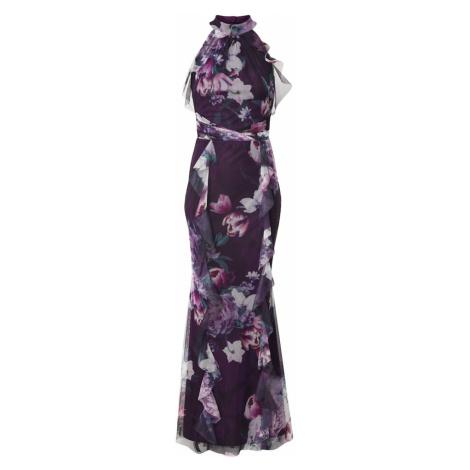 Lipsy Suknia wieczorowa czarny / różowy / różowy pudrowy