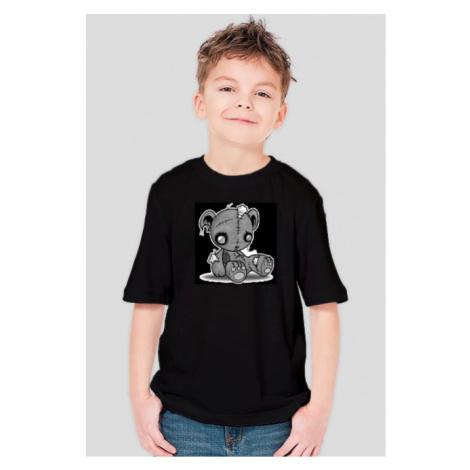 Koszulka dziecięca - smutny misiu (czarna dla chlopca)
