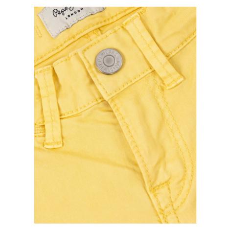 Pepe Jeans Szorty materiałowe Blueburn PB800294C Żółty Regular Fit