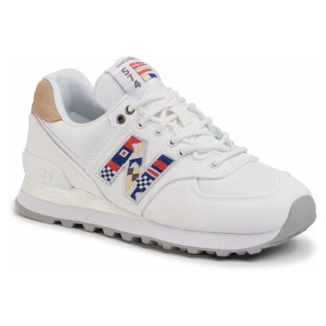 Sneakersy NEW BALANCE - WL574SOD Biały