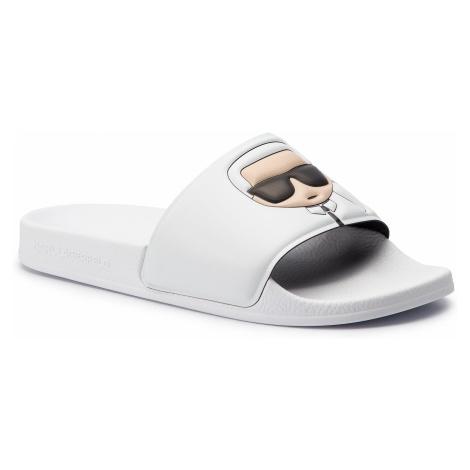 Klapki KARL LAGERFELD - KL80905 White Rubber