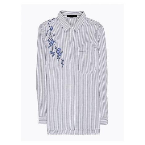 GATE Długa bawełniana koszula w prążki z haftem
