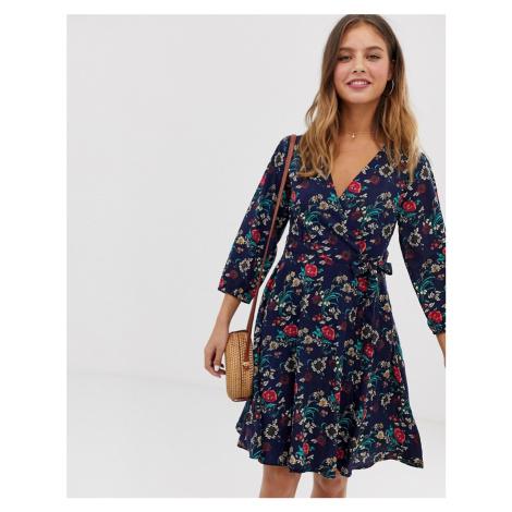 Yumi wrap dress in floral print