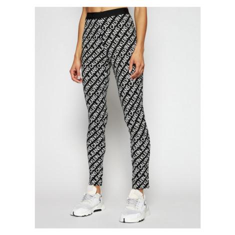 Calvin Klein Jeans Legginsy J20J216097 Czarny Slim Fit