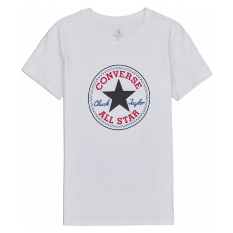 Converse CHUCK PATCH NOVA TEE biały L - Koszulka damska