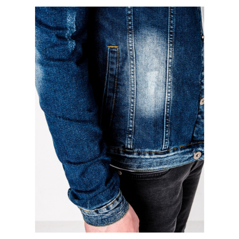 Ombre Clothing Men's mid-season jeans jacket C345