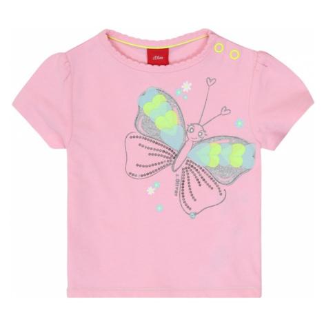 S.Oliver Koszulka różowy / neonowo-żółty / turkusowy / biały / srebrny