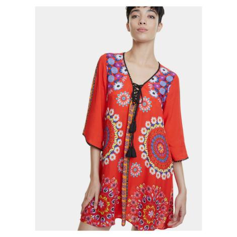 Desigual Damska sukienka letnia czerwony