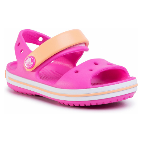 Sandały CROCS - Crocband Sandal Kids 12856 Electric Pink/Cantaloupe