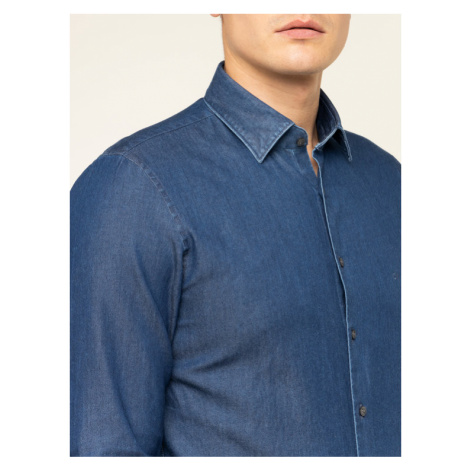Calvin Klein Koszula Denim Washed K10K104135 Granatowy Slim Fit
