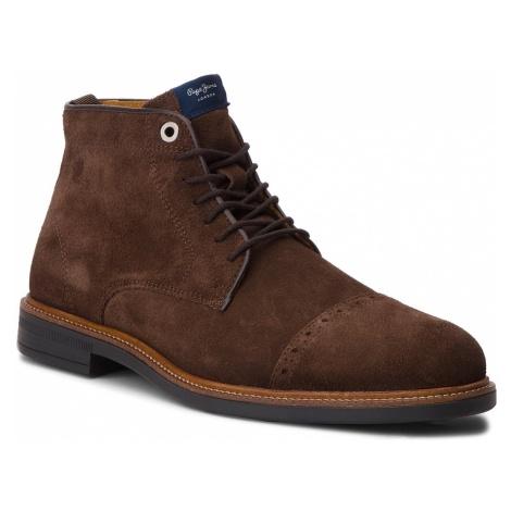 Trzewiki PEPE JEANS - Axel Boot PMS50169 Dk Brown 898