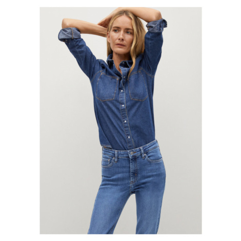 Mango Jeansy Isa 87001025 Niebieski Skinny Fit