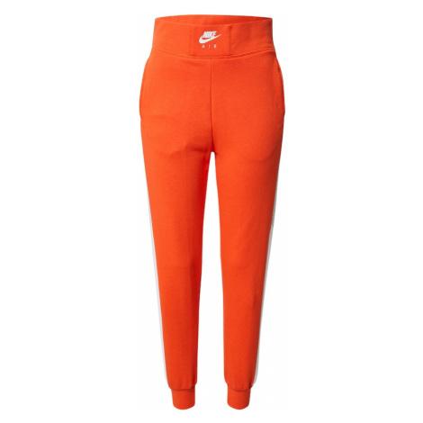 Nike Sportswear Spodnie pomarańczowy / biały
