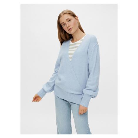 Pieces niebieski damski sweter
