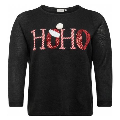 ONLY Carmakoma Sweter czarny / czerwony / biały