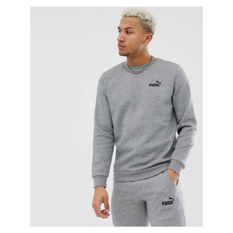 Puma Essentials sweatshirt with small logo in grey
