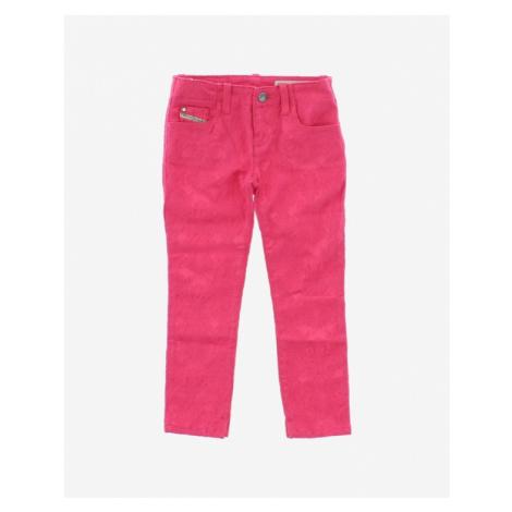 Diesel Spodnie dziecięce Różowy