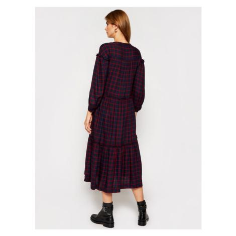 Tommy Hilfiger Sukienka koszulowa Bea Tartan WW0WW29289 Kolorowy Relaxed Fit