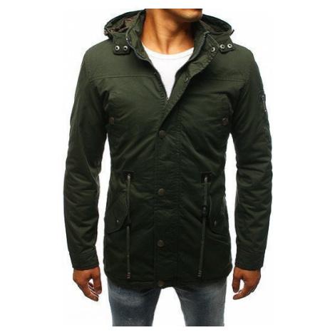 Green men's transitional parka jacket TX2258 DStreet