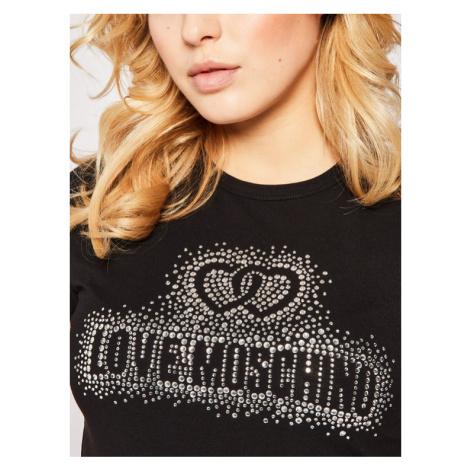 LOVE MOSCHINO T-Shirt W4F7360E1698 Czarny Regular Fit