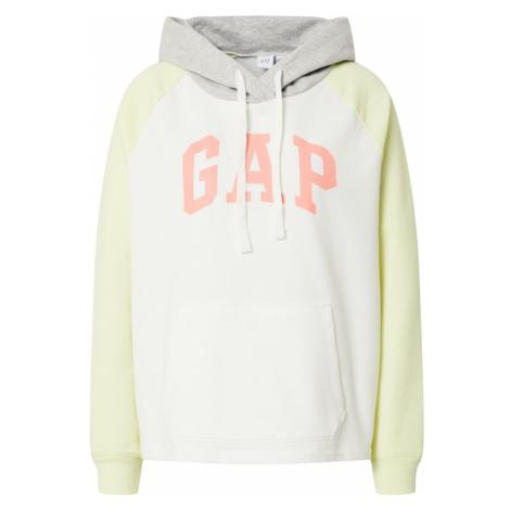 GAP Bluzka sportowa biały / jasnożółty / szary / łososiowy