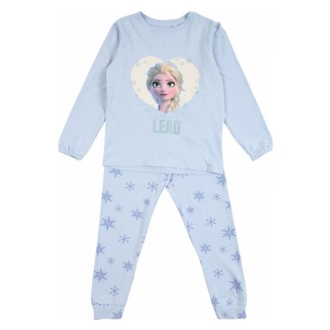 NAME IT Piżama 'FROZEN' jasnoniebieski / biały / beżowy / jasnożółty