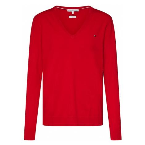 TOMMY HILFIGER Sweter czerwony