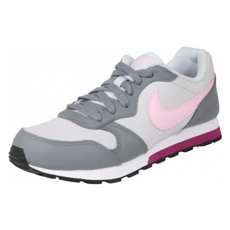 Nike Sportswear Trampki 'Runner 2 (GS)' szary / jasnoszary / różowy pudrowy