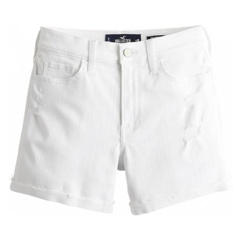 HOLLISTER Jeansy biały denim