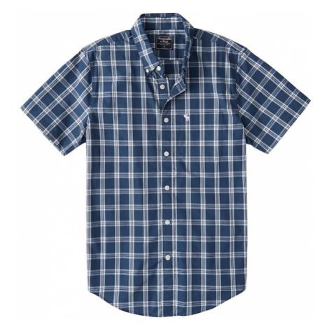 Abercrombie & Fitch Koszula 'SS OXFORD (DTC)' niebieski / biały