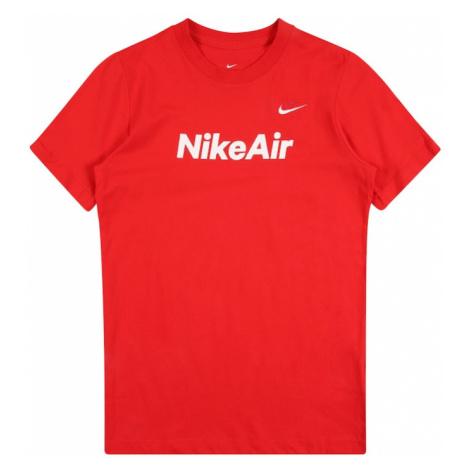 Nike Sportswear Koszulka 'Air' czerwony / biały