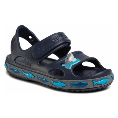 Crocs Sandały Fl Shark Band Sandal B 206365 Granatowy