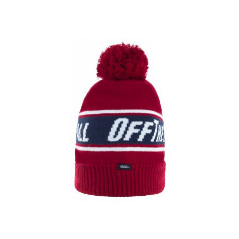 Czapka Off The Wall Pom Beanie Biking Red/Dress Blues VN0A2YR7TN31 (VA284-a) Vans
