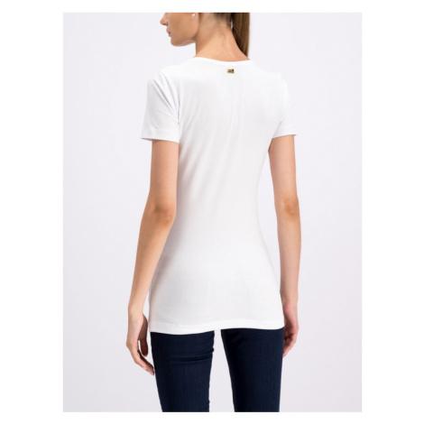 Cavalli Class T-Shirt B2ITB737 Biały Regular Fit Roberto Cavalli