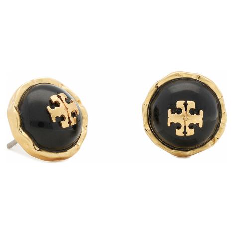 Kolczyki TORY BURCH - Roxanne Circle-Stud Earring 77311 Rolled Brass/Black 001